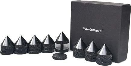 Sound Isolation Cones / Floor Spikes Set of 8, Black