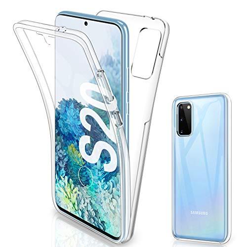 Gnews Samsung Galaxy S20 Hülle, Samsung Galaxy S20 Schutzhülle 360 Grad Full Body Front Und Rückenschutz Handyhülle Transparent Schutzhülle Durchsichtige Bumper für Samsung Galaxy S20