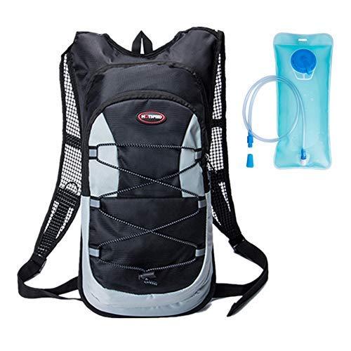 WISEONUS 12L Mochila de hidratación Ligera de con Bolsa Impermeable de vejiga de Agua Deportiva de 2L para Acampar en Bicicleta de montaña y Ciclismo