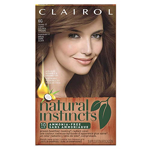Natural Instincts #12 Size Kit Clairol Natural Instincts #12 Light Golden Brown
