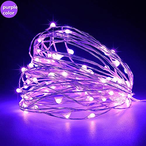 USB-schakelaar Koperdraad Licht String Vakantie Tuindecoratie Licht Buiten Waterdicht Explosieveilige Kerst Kleine lantaarn-5 M 50 lichtpaars licht