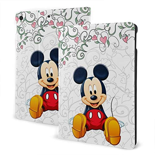 Cartoon Mickey Mouse Tablet Case 10.2 in Non-Slip Ultra Thin Standing Automatic Wake/Sleep TPU Back Cover Notebook Protective Cases