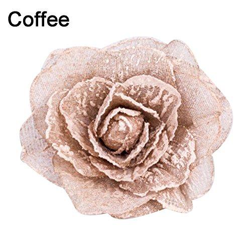 Jiacheng29/Floral magn/étique Embrasses en Voile Porte Fen/être Rideaux Ruban Embrasses