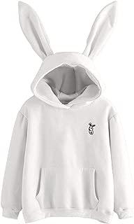 Aniywn Womens Autumn Cute Tops Rabbit Hoodie Sweatshirt Pullover Tops Blouse Soft Warm Long Sleeve Pullover