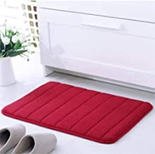 KFEKDT Foam Bathroom Rug Thickened Microfiber Velvet Cushion Living Room Kitchen Bedroom Absorbent Rug A4 80x160cm