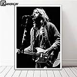 DIY Pintar por números Mujer Pintura al óleo Rock Guitar Singer Poster Wall Art Canvas Painting Posters and Prints Wall Picture Home Decor Decorative-A_x_CM_Unframed_