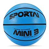 Stylife 5inch Mini Basketball for Kids, Inflatable Ball Environmental Protection Material,Soft and Bouncy,Colors Varied (Blue)