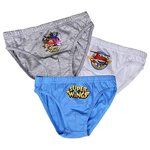 Super Wings 3-er Pack Slip Unterhosen | Unterwäsche | Größe 98-128, Doppelgröße:116/128