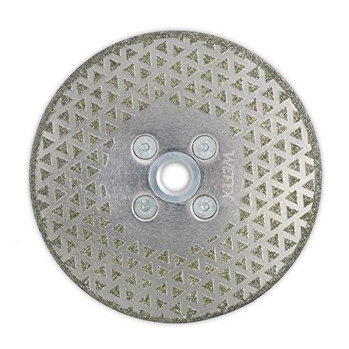 WEFEX Diamant-Trennscheibe/Schleifscheibe Galvanic-Pro 125 mm M14 Flansch galvanisch Feinsteinzeug Fliesen Kunststoff GFK CFK Natursteine
