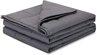 Weighted Idea Premium Weighted Blanket Calm 20 lbs Adult (60''x80'', 100% Natural Cotton, Grey)