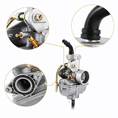 Carburador automático de motocicleta (50cc-125cc), reemplazo universal de carburador multifuncional con tubo de admisión flexible para PZ20 50cc 70cc 90cc 110cc 125cc ATV Quad Go-Kart carburador