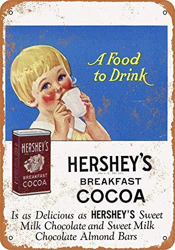 Placa de metal pintada con diseño de cacao de Hershey\'s de None Brand