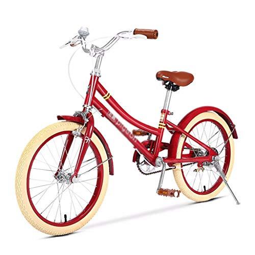 LONG Mädchen 20 Zoll Fahrrad mit Seitenständer, 20 Zoll Bikes Red City Bike, High Carbon Stahlrahmen Fahrrad for 10-16 Jahre altes Mädchen