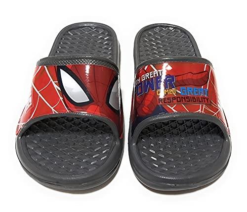 Chanclas Spiderman para Playa o Piscina - Flip-Flop Spiderman Marvel para niños (Gris, Numeric_24)