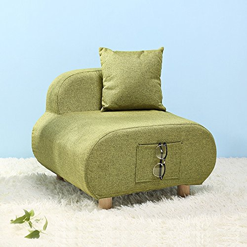 ZR- Canapé Chaise Europe du Nord Tissu Mini Loon Chaise Loisirs Canapé Tabouret (Color : Green)