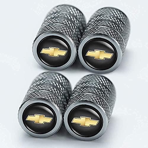 4 Piezas Coche Neumáticos Tapas Válvulas para Chevrolet Cruze Malibu Colorado Equinox, Antirrobo Prueba Polvo Impermeable Coche Decoración Accesorios