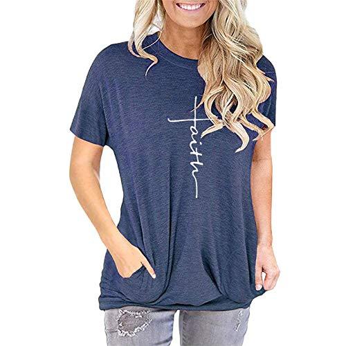 DREAMING-T-Shirt Manica Corta a Maniche Corte a Maniche Corte da Donna Primavera ed Estate XL