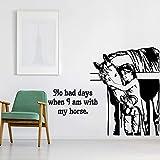 HGFDHG Pegatinas de Pared con Citas de Caballos, decoración del hogar, Sala de Estar, Frases Inspiradoras y Familiares, Pegatinas de Vinilo para Pared, decoración de la habitación de los niños