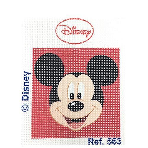 Haberdashery Online Kit Medio Punto para niños, 18 x 15 cms. Colección Mickey Mouse - Modelo 563