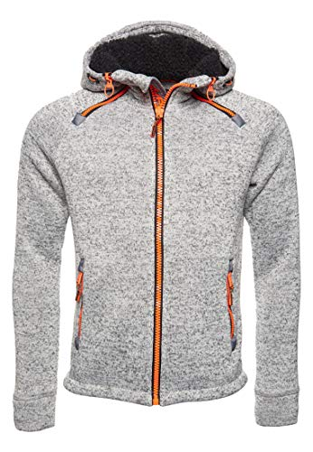 Superdry Zipper Herren Storm Double Ziphood Light Grey Grit, Größe:S