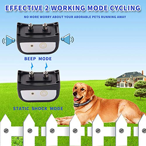 JUSTPET Wireless Fence Dog Boundary Container & Collar