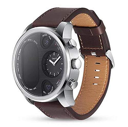 Reloj inteligente, IP68 resistente al agua Bluetooth 4.0 detección de salud, modo deportivo, cálculo, pasos para encontrar el teléfono compatible con Android e iOS (color: marrón)