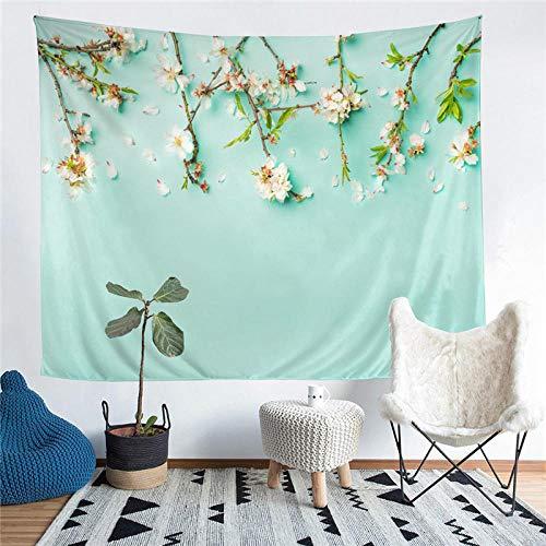 Hermosa flor impresa decoración de la sala de estar tapiz de pared estera de yoga alfombra decoración del hogar arte