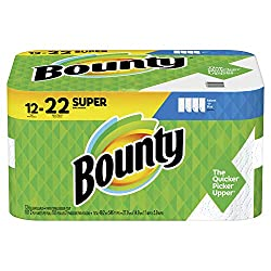 Bounty Select-A-Size Paper Towels, White, 12 Super Rolls = 22 Regular Rolls (Packaging May Vary)