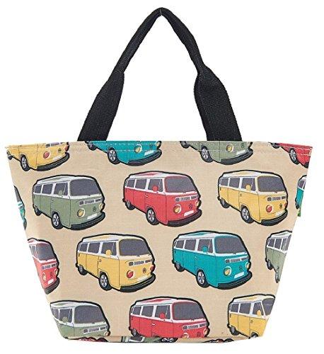 Eco Chic Isolierte Lunch-Tasche, Kühltasche, Picknick-Tasche, Tasche für Lunchpakete, Camper Van Cream