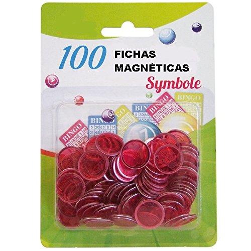 10 Paquetes DE 100 FICHAS MAGNÉTICAS para Bingo