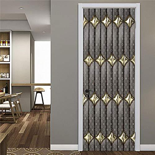 Ygccw Vinilo decorativo para puerta 3D, adhesivo 3D, para bricolaje, PVC, impermeable, creativo, para decoración del hogar, póster Dzmt086_77X200cm