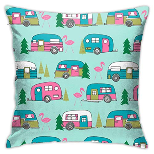 Hangdachang - Fundas de almohada personalizadas con flores de cerezo de lujo para ropa de cama, salón, sofá, 18 x 18 pulgadas New Mexico State Car