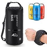 BFULL Dry Bag Wassertasche Packsack 5L/10L/20L/30L Ultra-Light Trockensack mit 2 Außentasche mit...