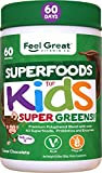 Kids Superfood Greens Cocoa Chocolate Superfood Powder by Feel Great 365 (60 Servings) | Non-GMO,...