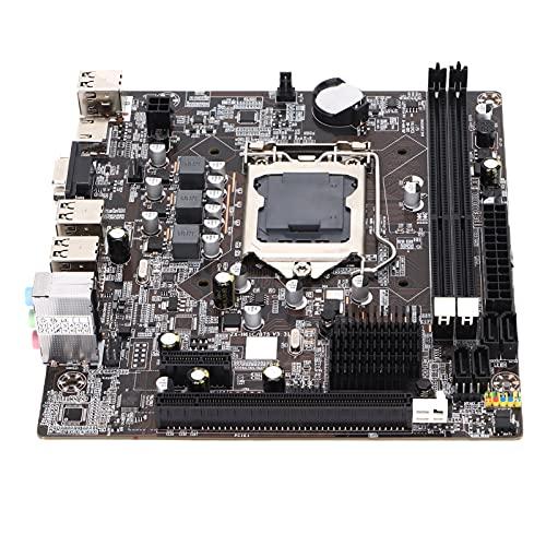 Dpofirs Placa Base De Escritorio H61 Placa Base para Juegos DDR3 1155 Gama Completa De Procesadores, Memoria De Doble Canal 1066/1333/1600, Ranura para Tarjeta Gráfica PCIE 3.0 16X