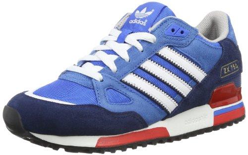 adidas Herren ZX750 Niedrige Hausschuhe, Blau (Bluebird/Running White FTW/St Dark Slate F13), 43 1/3