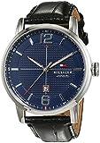 Tommy Hilfiger Herren Analog Quarz Uhr mit Leder Armband 1791216