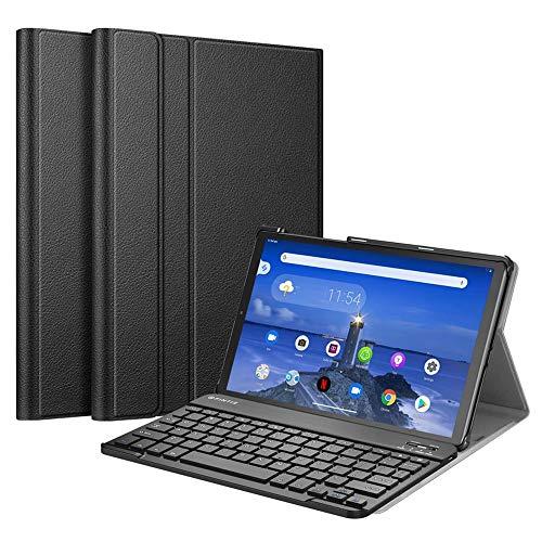 SsHhUu Funda con Teclado para Lenovo Tab M10 HD 2nd Gen (TB-X306X) / Smart Tab M10 HD 2nd Gen (TB-X306F) 10.1 Pulgadas 2020, Keyboard Case Cubierta Delgada, Teclado Inalámbrico Desmontable, Negro