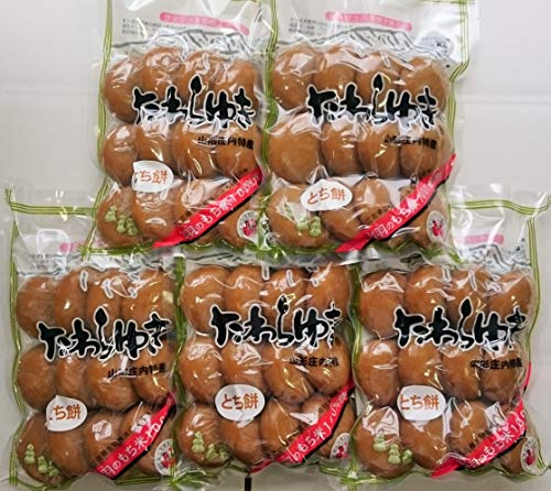 庄内の恵み屋 山形県庄内産 丸餅 とちもち 600g(12個)×5