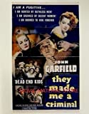 John Garfield The Dead End Kids They Made Me A Criminal 8x10' Photo #K7387