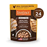 Nature's Variety Instinct Healthy Cravings Grain Free Real Chicken Recipe Natural Wet Dog Food Topper, 3 oz. Pouches (Case of 24)
