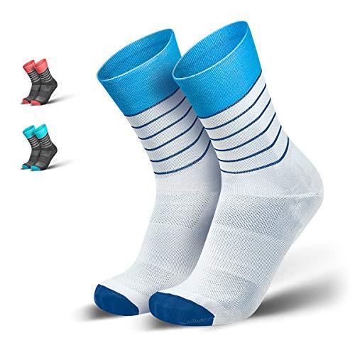 INCYLENCE Running Socks Kompressionsstrümpfe für Damen und Herren aus der atmungsaktiven, unterstützenden, ultraleichten Dryarn® Mikrofaser, Blau, 43-46