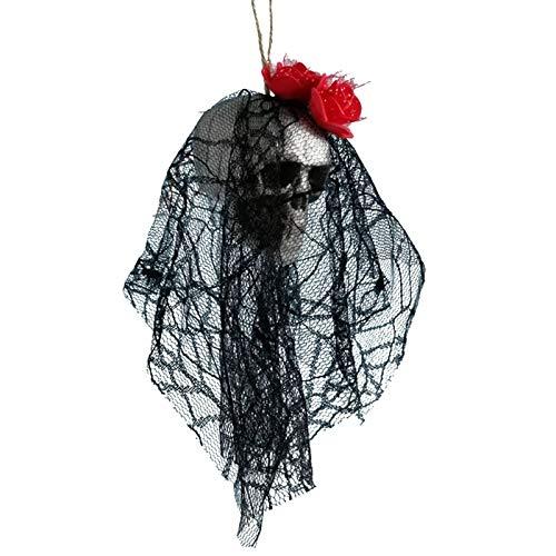 Aprigy - DIY Artificial Espuma Novia del cráneo de Halloween Ropa Decor Bone Cabeza Colgando Fiesta Festival de Decoraciones caseras [4 ]