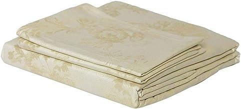 ملاءة سرير مسطحة مع اغطية وسائد من قطن دمشقي 100% 400 خيط من جاست لينين Queen JB025513Q