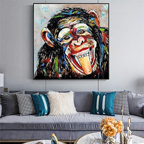 KWzEQ Mural Abstracto de Pintura al óleo Animal, Mural de decoración del hogar, Mural Moderno nórdico,50X50cm,Pintura sin Marco