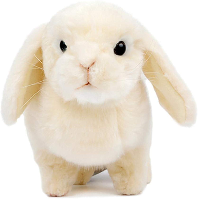 Naughty baby Lop Rabbit Plush Toy Simulation Cute Little White Rabbit Doll Boy Girl Birthday Present