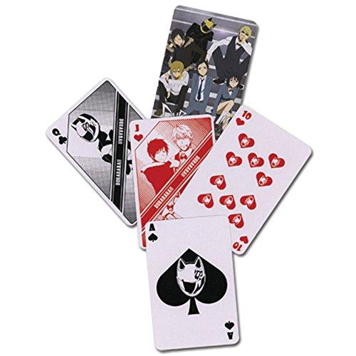 Durarara cartes à jouer poker