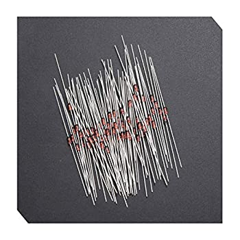 Ximimark 100Pcs 1N60P Germanium Detector Diode Small Signal Switching Diode for FM AM TV Radio Detection