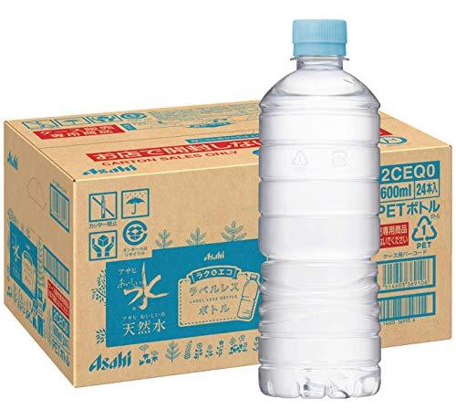 スマートマットライト アサヒ飲料 おいしい水 天然水 ラベルレスボトル PET600ml×24本