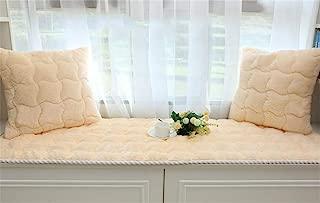DM&XJ Solid Color Bay Window Cushion,Plush Thicked Window Bench mat,Balconies pad,Simple Machine Washable Window seat Cushions Indoor-B 70x180cm(28x71inch)